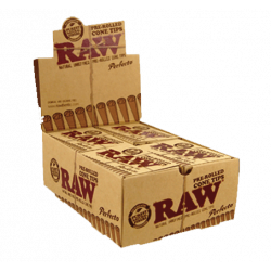 RAW PRE-ROLLLED CONE TIPS...